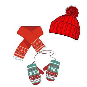 Шапки, шарфи, рукавички для хлопчиків