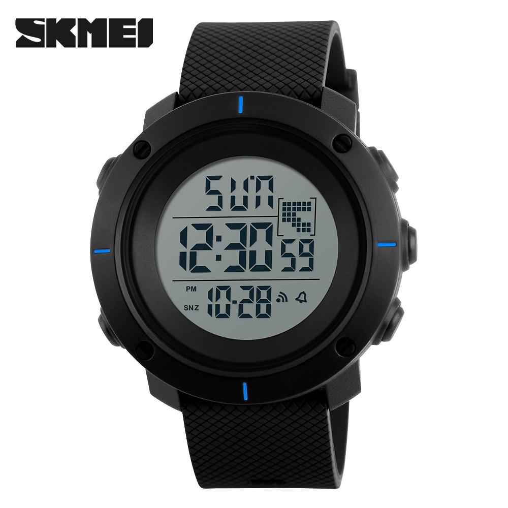 Skmei 1213 dekker черные с синим мужские спортивные часы