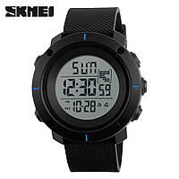 Skmei 1213 dekker черные с синим мужские спортивные часы, фото 1