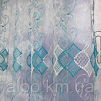 Турецький тюль для залу кімнати кухні, тюль з фатину для залу спальні кімнати, фатинова фіранка для будинку спальні вітальні залу, фото 3