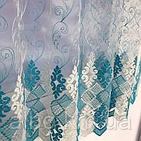 Турецький тюль для залу кімнати кухні, тюль з фатину для залу спальні кімнати, фатинова фіранка для будинку спальні вітальні залу, фото 7