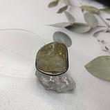 Цитрин 19,4 размер кольцо с натуральным цитрином кольцо с камнем цитрин желтый в серебре Индия, фото 7