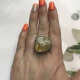 Цитрин 19,4 размер кольцо с натуральным цитрином кольцо с камнем цитрин желтый в серебре Индия, фото 3