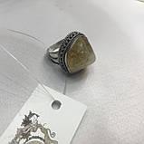 Цитрин 19,4 размер кольцо с натуральным цитрином кольцо с камнем цитрин желтый в серебре Индия, фото 8
