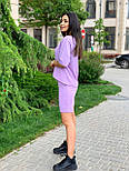Женский летний костюм с шортами по колено и свободной футболкой (р. 42-52) 84101896, фото 3