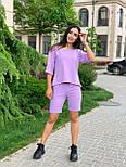 Женский летний костюм с шортами по колено и свободной футболкой (р. 42-52) 84101896, фото 4
