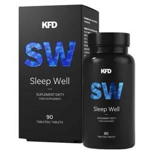 KFD Sleep Well мелатонин, валериана, ГАМК, L-теанин , L- триптофан , полынь, магнолия, мелисса, крокус 90 таб.