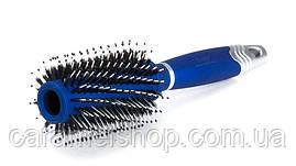 Брашинг для волосся Dagg premium зі щетиною 2634TSP синій діаметр 7 см
