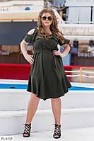 Летние платье свободного силуэта с рюшками  р-ры 48-62 арт. 867
