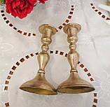 Посеребренный каминный подсвечник, серебрение по меди, винтаж, Англия, Ianthe, Silver Plate, фото 9