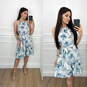 Летнее свободное платье из софта 35-254