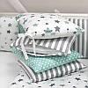 Постельное белье для новорожденных в кроватку Baby Design Stars мятный 120х60 см (6 пр), фото 9