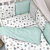 Постельное белье для новорожденных в кроватку Baby Design Stars мятный 120х60 см (6 пр), фото 8