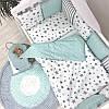 Постельное белье для новорожденных в кроватку Baby Design Stars мятный 120х60 см (6 пр), фото 6