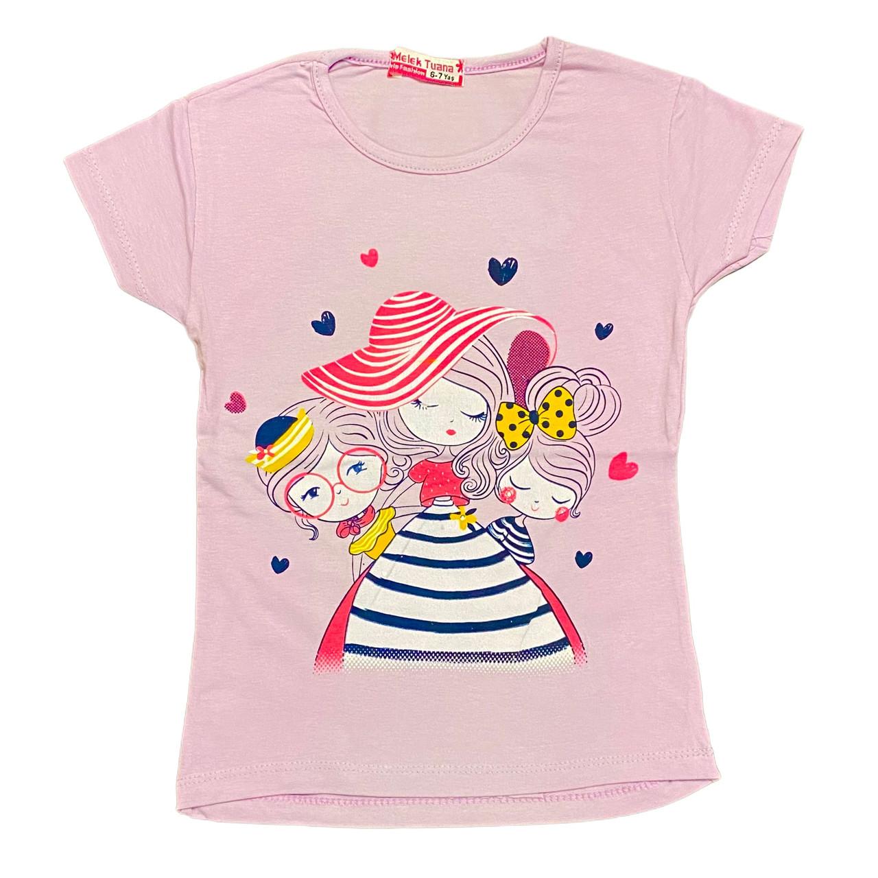 Дитяча футболка для дівчинки, 110см