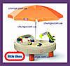 Стол-песочница с зонтом Little Tikes 401N Веселая стройка
