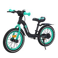 Детский беговел-велобег 14 дюймов Extreme T-212524 Azure