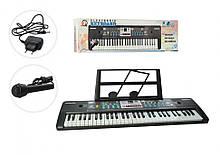 Lb Детский музыкальный инструмент Синтезатор с мирофоном MQ6182, 61 клавиша игрушка