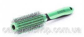 Массажная расчёска круглая Dagg 9812KSP зеленый диаметра 4,5 см