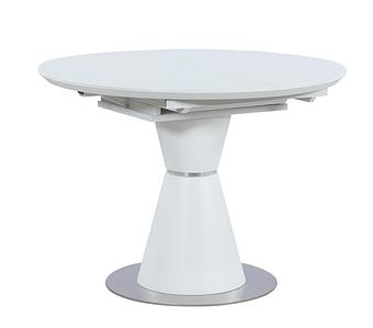 ТМL-651-1 стол раскладной 105/145 матовый белый TM Vetro Mebel