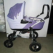 Б/У Коляска 2 в 1 Tako Lungo. Прогулянкова коляска Tako Lungo фіолетова. Дитяча коляска Тако Лунго