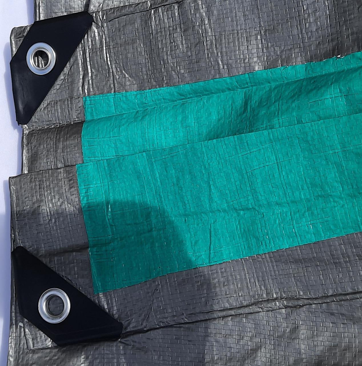 "Тент ""Серо-зелёный"" 8х10м, плотность 100 г/м2"