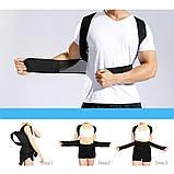 Корсет для осанки Фиксирующий корректор для исправления сутулости спины Get Back Pain Relief of р ХХЛ Бандаж, фото 8