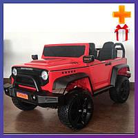 Детский электромобиль на аккумуляторе Джип CH938 с пультом радиоуправления для детей 3-8 лет красный