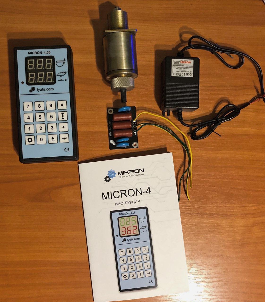 """Електронна лінійка на пилораму """"Micron-4.05"""" + CL-80 датчик"""