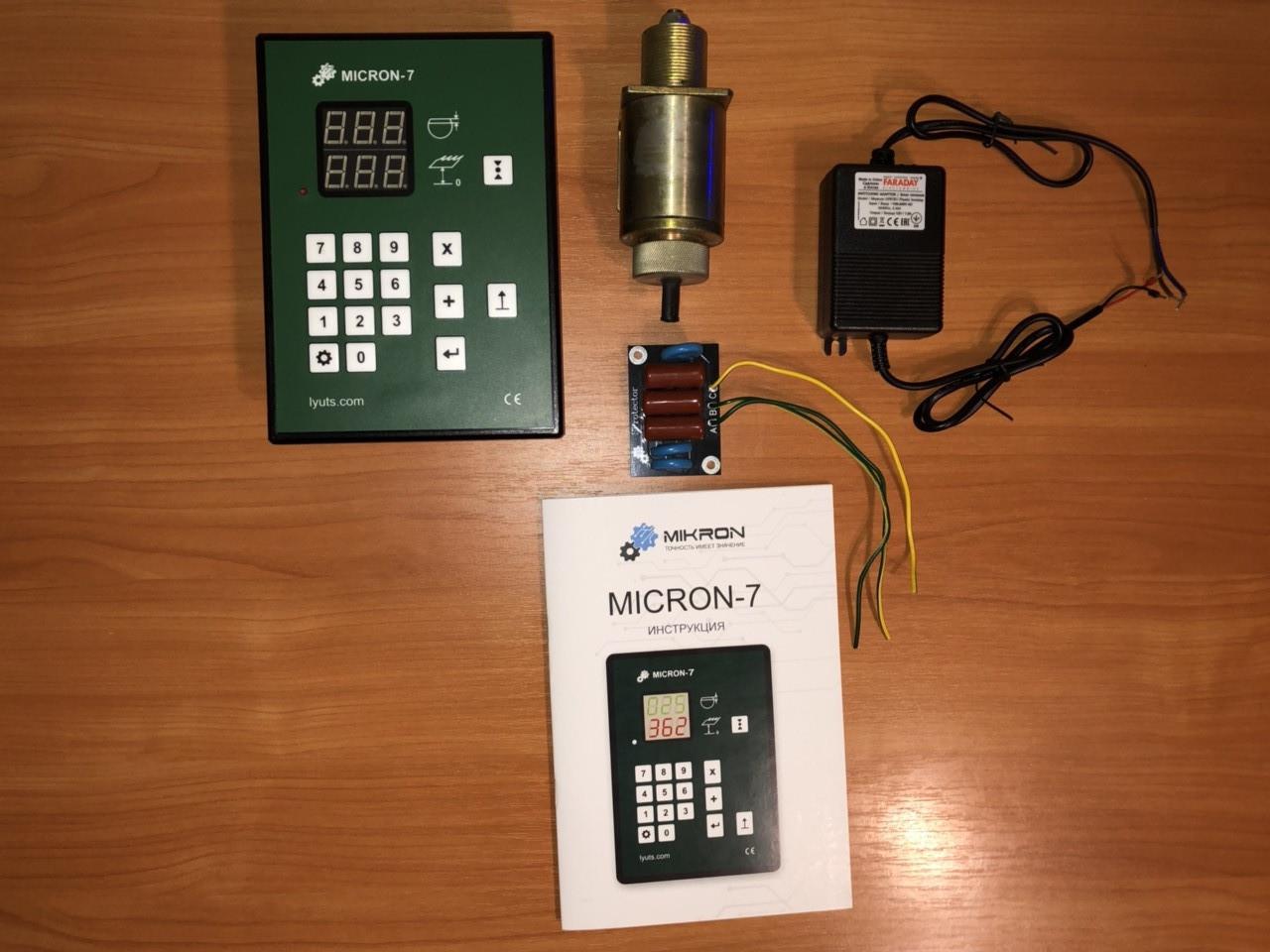 Електронна лінійка на пилораму Micron-7 + CL-80 датчик