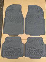 Авто коврики резиновые ОПТОМ. Универсальные! Коврики в салон автомобиля (комплект 4 шт.) Серый. KCM-893
