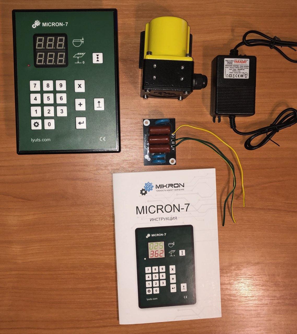 Електронна лінійка на пилораму Micron-7 + PRT-300 датчик