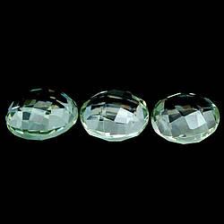 Натуральный зеленый Аметист Празиолит круг