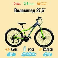 """Спортивный велосипед Unicorn - Calibry,  Колеса 27,5.Рама 15"""",  Алюминий Салатовый"""