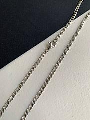 Чоловічий ланцюжок сталевий з нержавіючої сталі 60см срібний, тонкая стальная цепь мужская цвет серебро