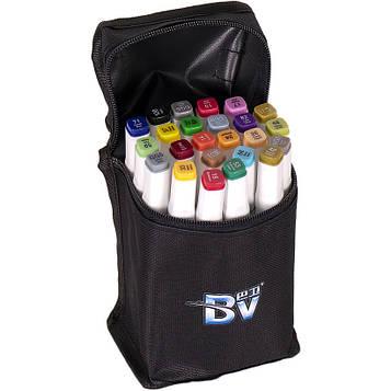 Скетч маркери двосторонні професійні 24 кол в сумці