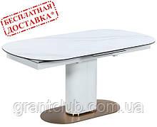 Стол TML-828 камео белый мрамор керамика 160/200х90 (бесплатная доставка)