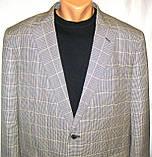 Пиджак шерстяной серый в клетку Brooks Brothers (56), фото 2