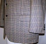 Пиджак шерстяной серый в клетку Brooks Brothers (56), фото 3