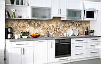 Скинали на кухню Zatarga «Сепия летней зари» 600х3000 мм виниловая 3Д наклейка кухонный фартук самоклеящаяся