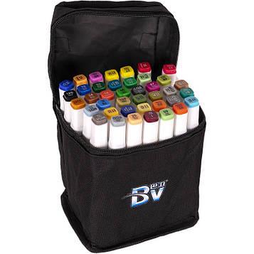 Скетч маркери двосторонні професійні 40 цв в сумці