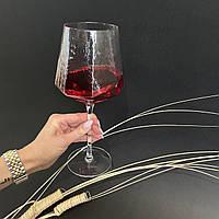 Прозрачный бокал DS Transparent Turquoise для красного вина 600 мл