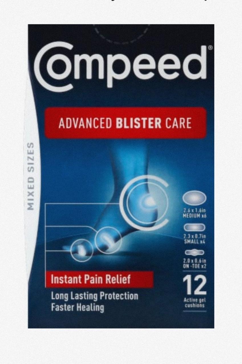 Набір пластирів Компид Мікс різних розмірів США Compeed Advanced Blister Care Mixed sizes USA 12 шт.