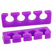 Силиконовый разделитель для пальцев ног фиолетовый