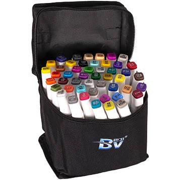 Скетч маркери двосторонні професійні 60 цв в сумці