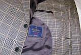 Пиджак шерстяной серый в клетку Brooks Brothers (56), фото 4