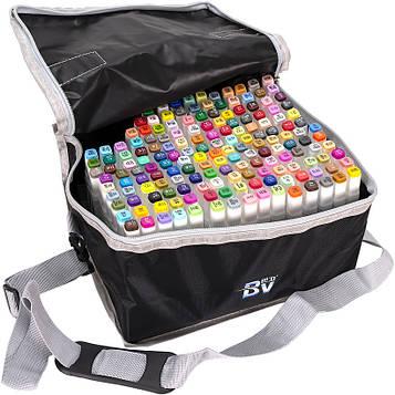 Скетч маркери двосторонні професійні 168 цв в сумці