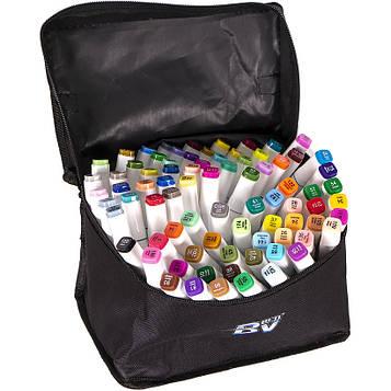 Скетч маркери двосторонні професійні 80 цв в сумці