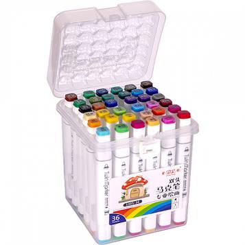 Скетч маркери двосторонні професійні 36 цв в пластиковому боксі