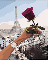 Картина по номерам Свидание в Париже VA-1169 Strateg 40*50 набор для рисования по цифрам на холсте с красками